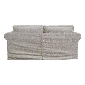 Canapé 3 places en tissu beige à motif - Crowson - Visuel n°3