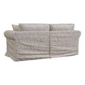 Canapé 3 places en tissu beige à motif - Crowson - Visuel n°4