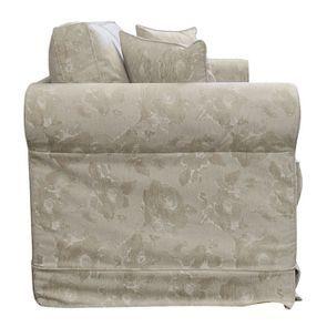 Canapé 3 places en tissu beige à motif - Crowson - Visuel n°5