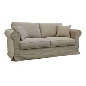 Canapé 3 places en tissu beige - Crowson - Visuel n°2