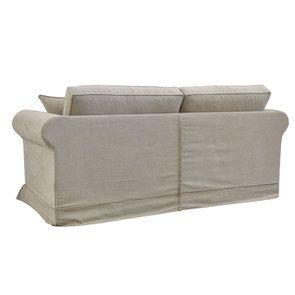 Canapé 3 places en tissu beige - Crowson - Visuel n°4