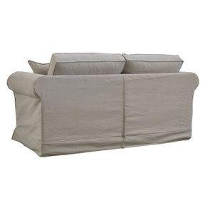 Canapé 3 places en tissu beige - Crowson - Visuel n°5