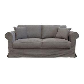 Canapé 3 places en tissu taupe  - Crowson - Visuel n°1