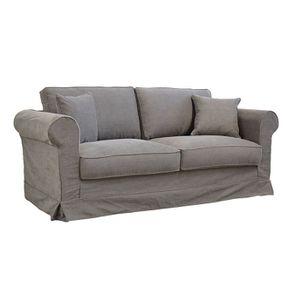 Canapé 3 places en tissu taupe  - Crowson - Visuel n°2