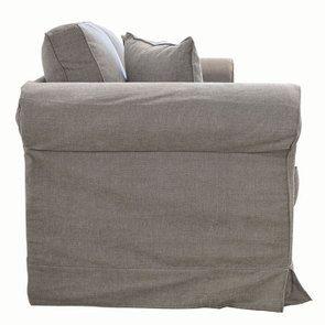 Canapé 3 places en tissu taupe  - Crowson - Visuel n°3