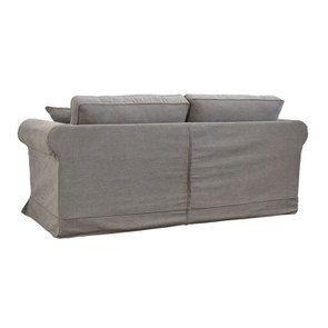 Canapé 3 places en tissu taupe  - Crowson - Visuel n°5