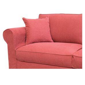 Canapé 3 places en tissu rouge - Crowson - Visuel n°5