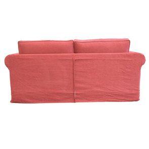 Canapé 3 places en tissu rouge - Crowson - Visuel n°3