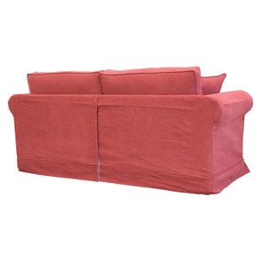Canapé 3 places en tissu rouge - Crowson - Visuel n°4