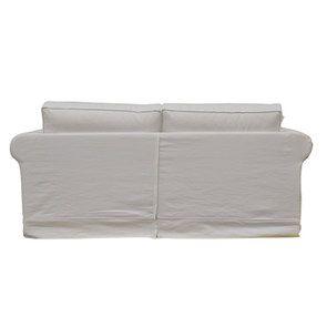 Canapé 3 places en tissu blanc - Crowson - Visuel n°4