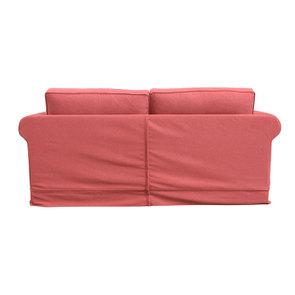 Canapé convertible 3 places en tissu rose - Crowson - Visuel n°6