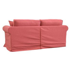 Canapé convertible 3 places en tissu rose - Crowson - Visuel n°7
