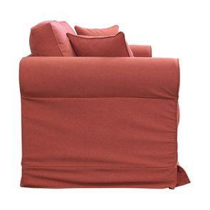 Canapé convertible 3 places en tissu rose - Crowson - Visuel n°8