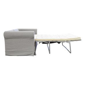 Canapé convertible 3 places en tissu gris clair- Crowson - Visuel n°4