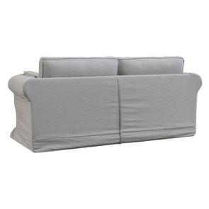 Canapé convertible 3 places en tissu gris clair- Crowson - Visuel n°6