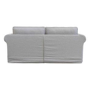Canapé convertible 3 places en tissu gris clair- Crowson - Visuel n°7