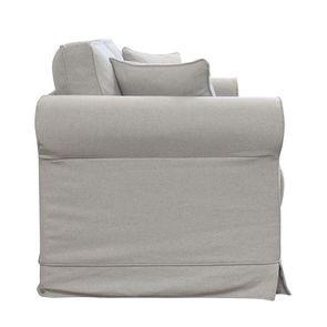 Canapé convertible 3 places en tissu gris clair- Crowson - Visuel n°8