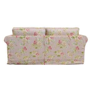 Canapé convertible 3 places en tissu rose fleuri - Crowson - Visuel n°7