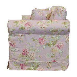 Canapé convertible 3 places en tissu rose fleuri - Crowson - Visuel n°8