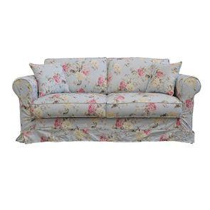 Canapé convertible 3 places en tissu à motif fleuri - Crowson - Visuel n°1