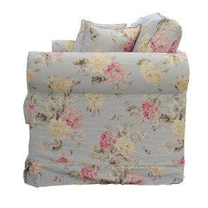 Canapé convertible 3 places en tissu à motif fleuri - Crowson - Visuel n°6