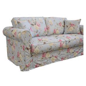 Canapé convertible 3 places en tissu à motif fleuri - Crowson - Visuel n°9