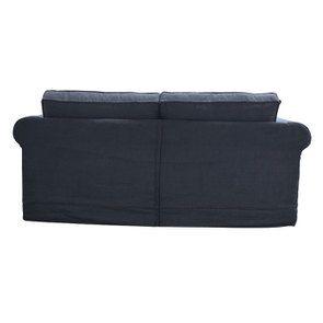 Canapé convertible 3 places en tissu noir - Crowson - Visuel n°7
