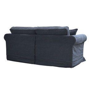 Canapé convertible 3 places en tissu noir - Crowson - Visuel n°8