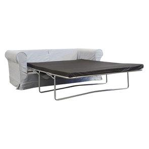 Canapé convertible 3 places en tissu gris clair - Crowson - Visuel n°2