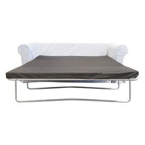 Canapé convertible 3 places en tissu gris clair - Crowson - Visuel n°3