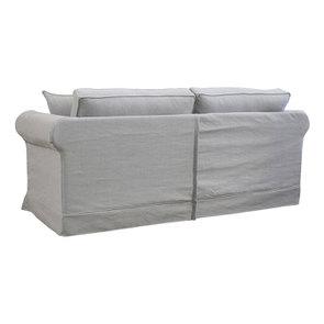 Canapé convertible 3 places en tissu gris clair - Crowson - Visuel n°6