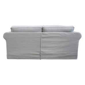 Canapé convertible 3 places en tissu gris clair - Crowson - Visuel n°7