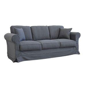 Canapé 4 places en tissu gris - Crowson - Visuel n°2