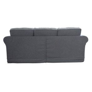 Canapé 4 places en tissu gris - Crowson - Visuel n°4