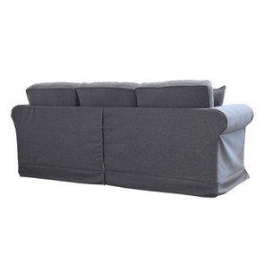Canapé 4 places en tissu gris - Crowson - Visuel n°5