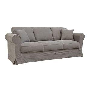 Canapé 4 places en tissu taupe - Crowson - Visuel n°2