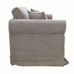 Canapé 4 places en tissu taupe - Crowson - Visuel n°3