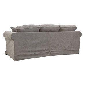 Canapé 4 places en tissu taupe - Crowson - Visuel n°5