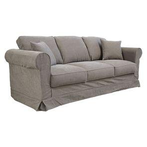 Canapé 4 places en tissu taupe - Crowson - Visuel n°6