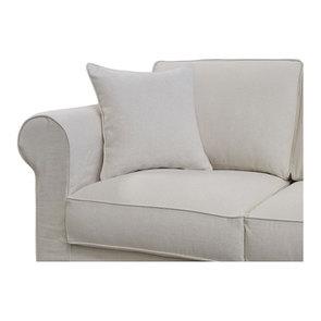Canapé 4 places en tissu beige - Crowson - Visuel n°6