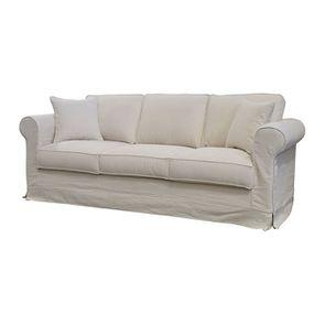 Canapé 4 places en tissu beige - Crowson - Visuel n°2