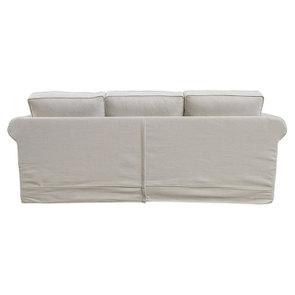 Canapé 4 places en tissu beige - Crowson - Visuel n°4