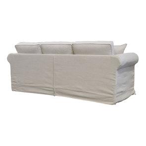 Canapé 4 places en tissu beige - Crowson - Visuel n°5