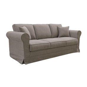 Canapé 4 places en tissu taupe grisé - Crowson - Visuel n°3