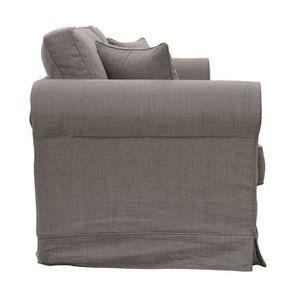 Canapé 4 places en tissu taupe grisé - Crowson - Visuel n°4