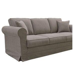 Canapé 4 places en tissu taupe grisé - Crowson - Visuel n°7