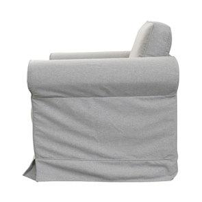 Fauteuil en tissu gris clair - Crowson - Visuel n°4