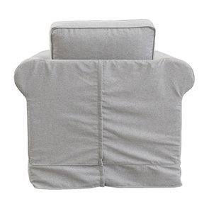 Fauteuil en tissu gris clair - Crowson - Visuel n°5