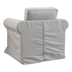 Fauteuil en tissu gris clair - Crowson - Visuel n°6