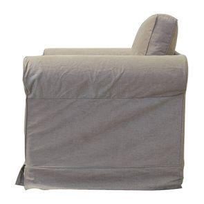 Fauteuil en tissu marron - Crowson - Visuel n°5